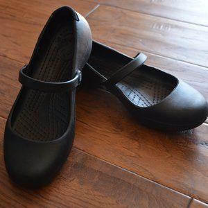 Crocs Alice Work Black Flat Mary Jane Style Size 6
